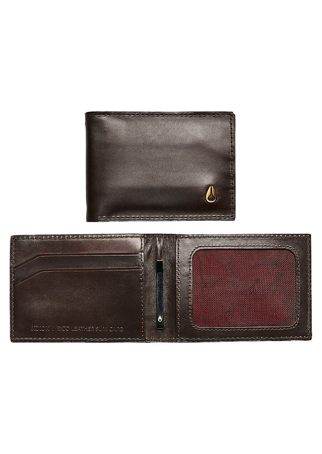 Nixon Men's Rico Slim Card Wallet Brown
