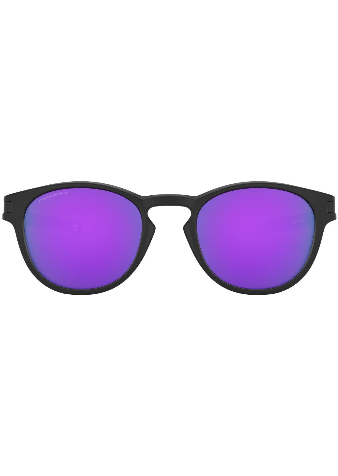Oakley Men's Latch Prizm Sunglasses Matte Black/Prizm Violet Iridium