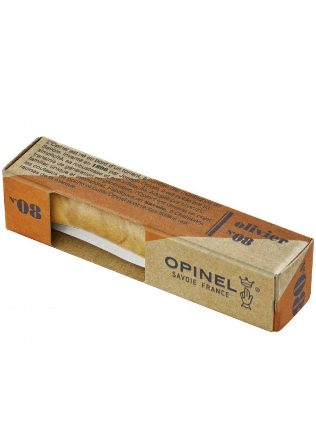 Opinel Tradition N°08 Luxury Olivewood Stainless Steel Knife Olive Wood