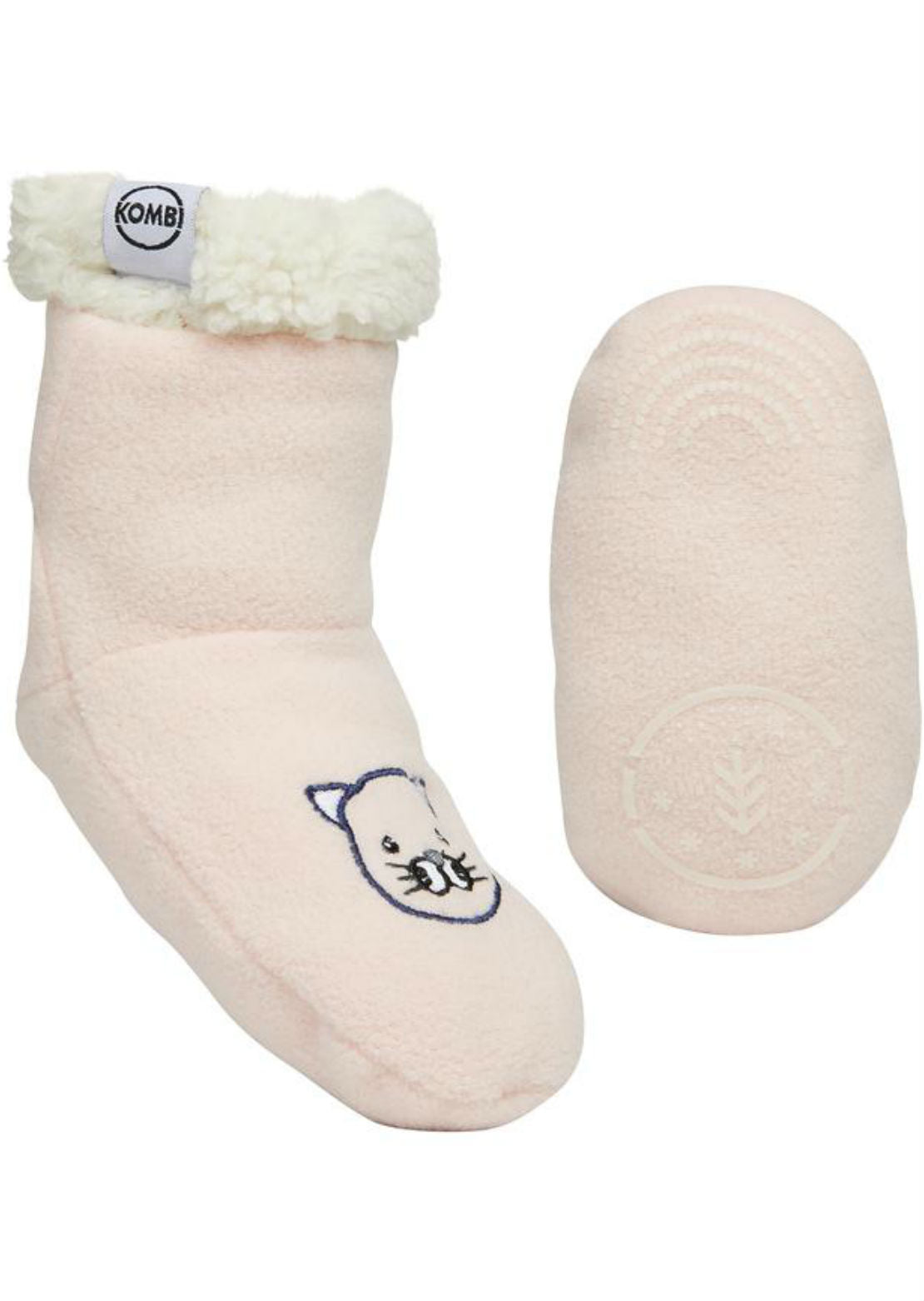 Kombi Junior Infant Sherpa Animal Fleece Sock