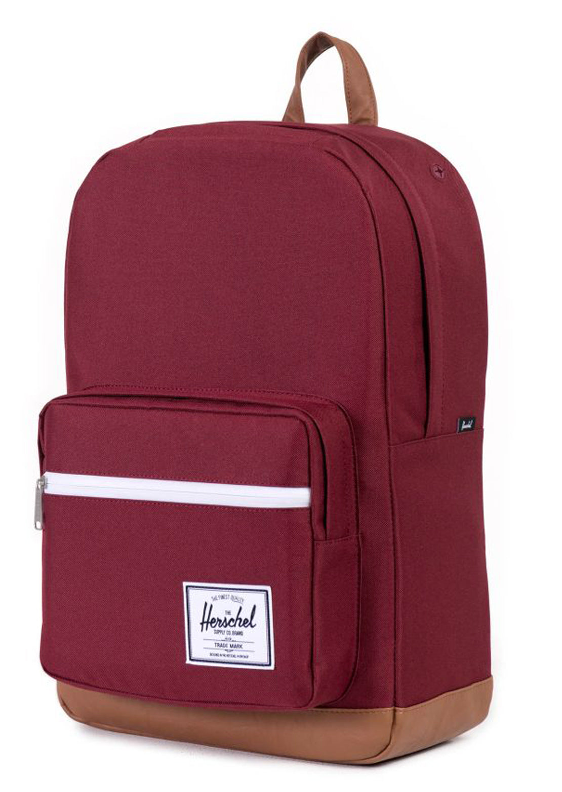 Herschel Pop Quiz Backpack Windsor Wine/Tan Synthetic Leather