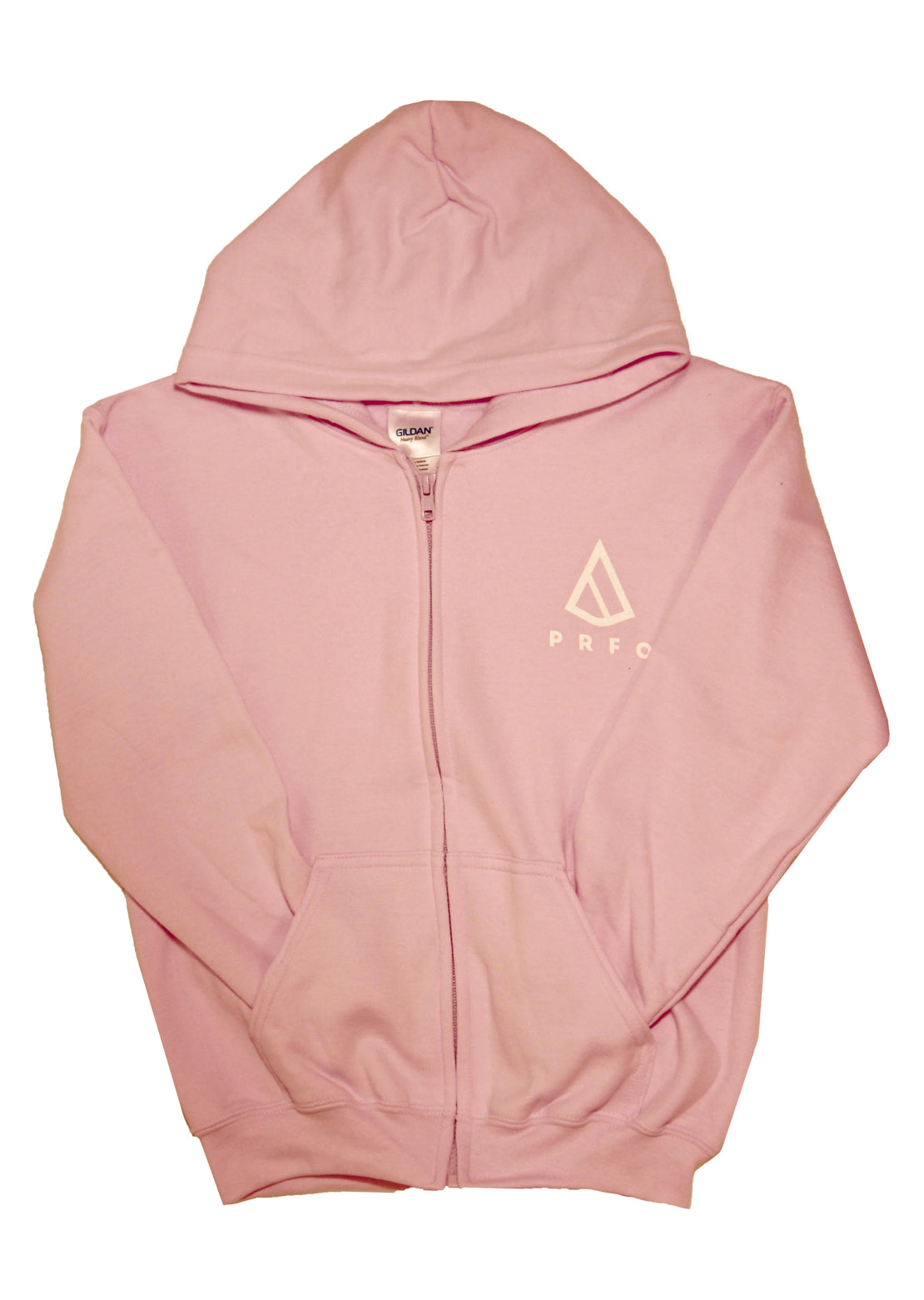 PRFO Junior Icon Front & Back Zip Hoodie Pale Pink/White