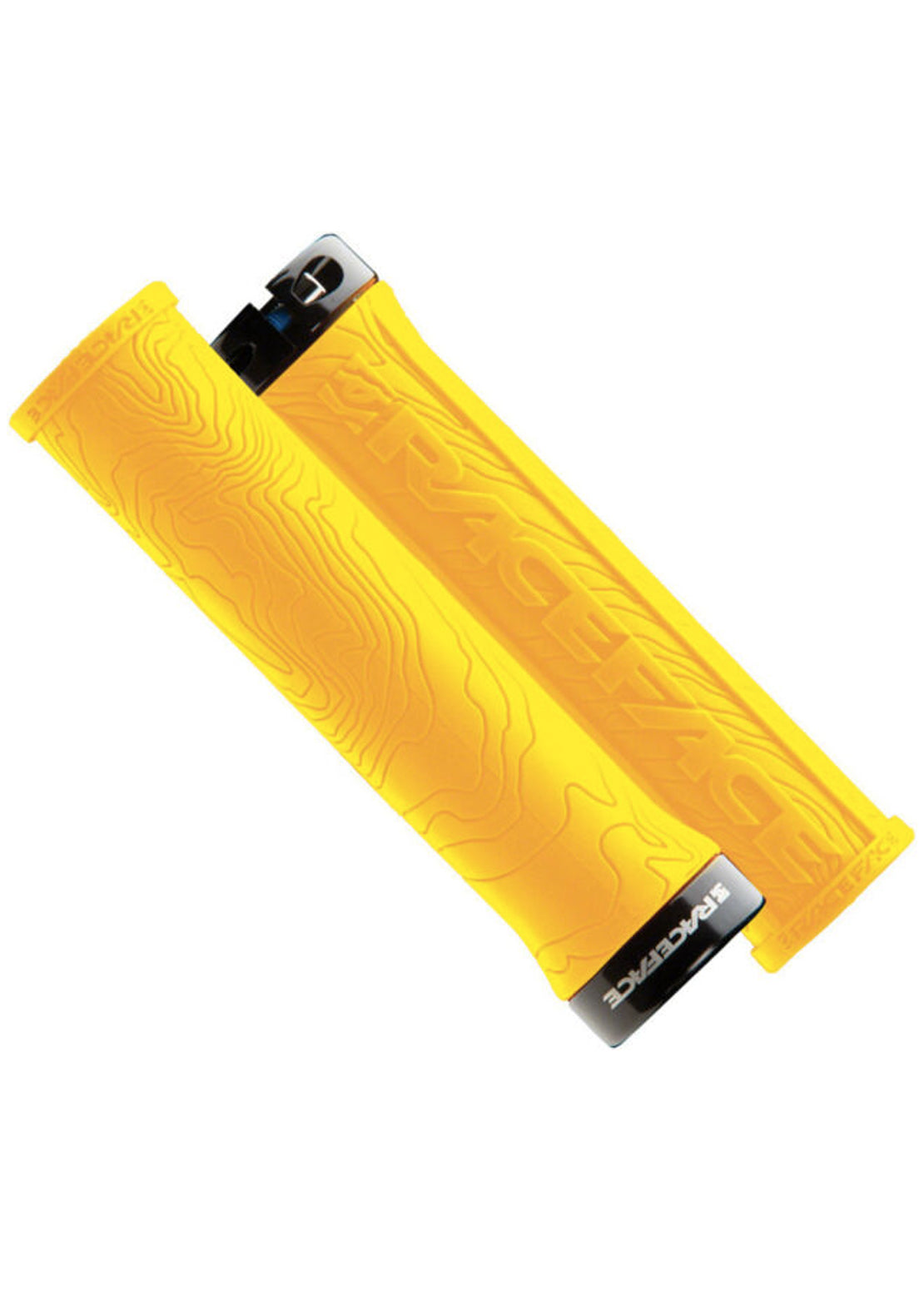 Race Face Half Nelson Single Lock On Grips Yellow