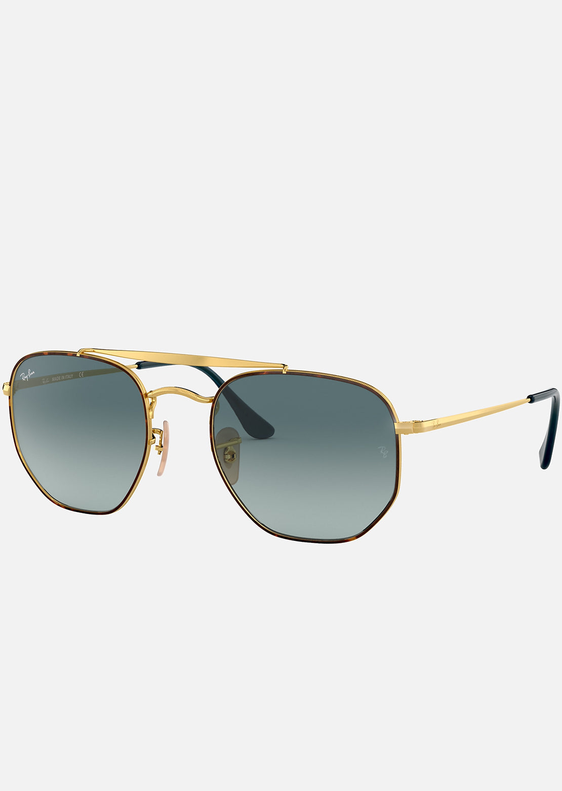 Ray-Ban RB3648 Marshal Sunglasses Havana/Blue Gradient Grey