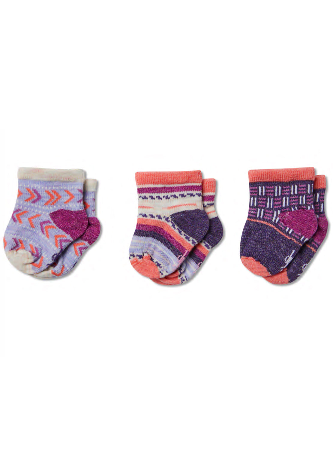 Smartwool Junior baby Bootie Batch Socks Meadow Mauve