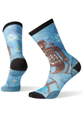 Smartwool Men's Curated Game of Ghosts Crew Socks Multi Color