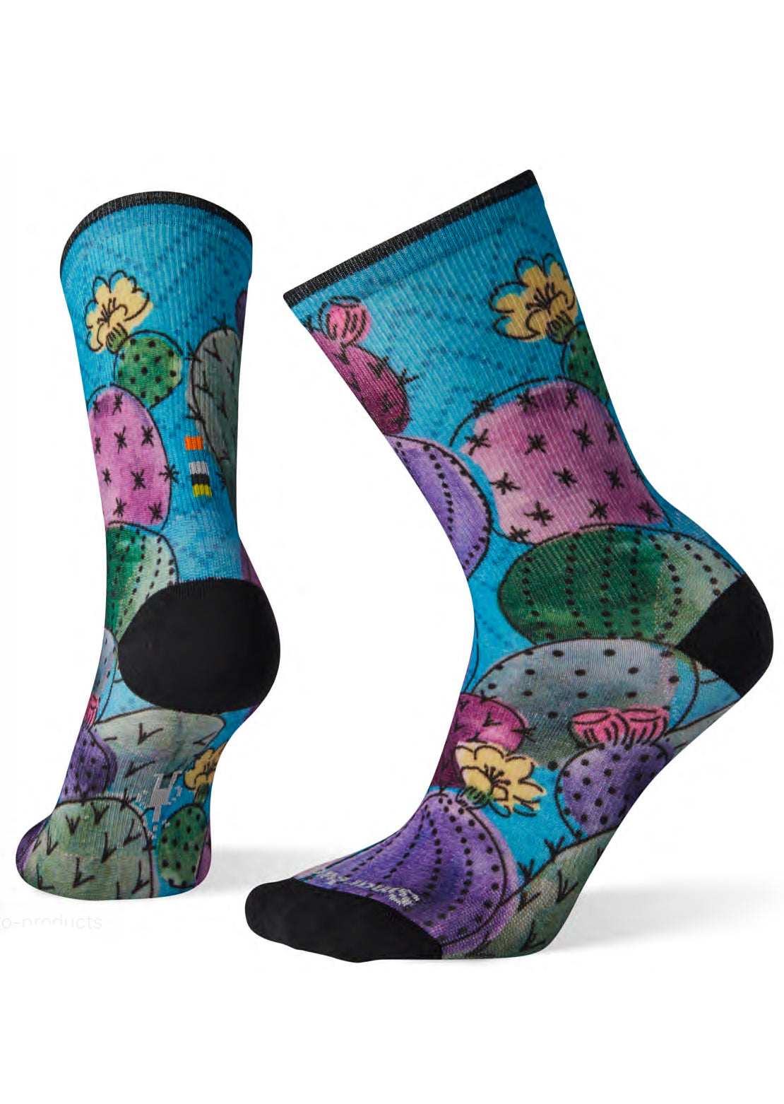 Smartwool Women's Curated Cactus And Flowers Print Crew Socks Multi