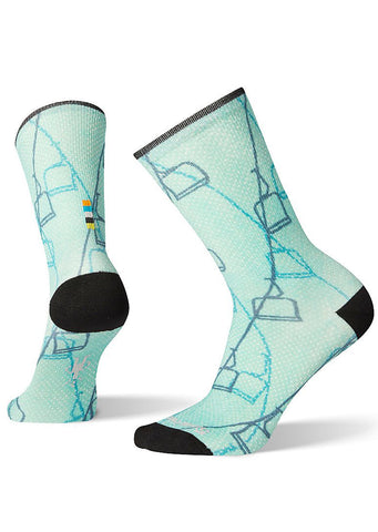 Smartwool Women's Curated Ski Lift Crew Socks Multi Color