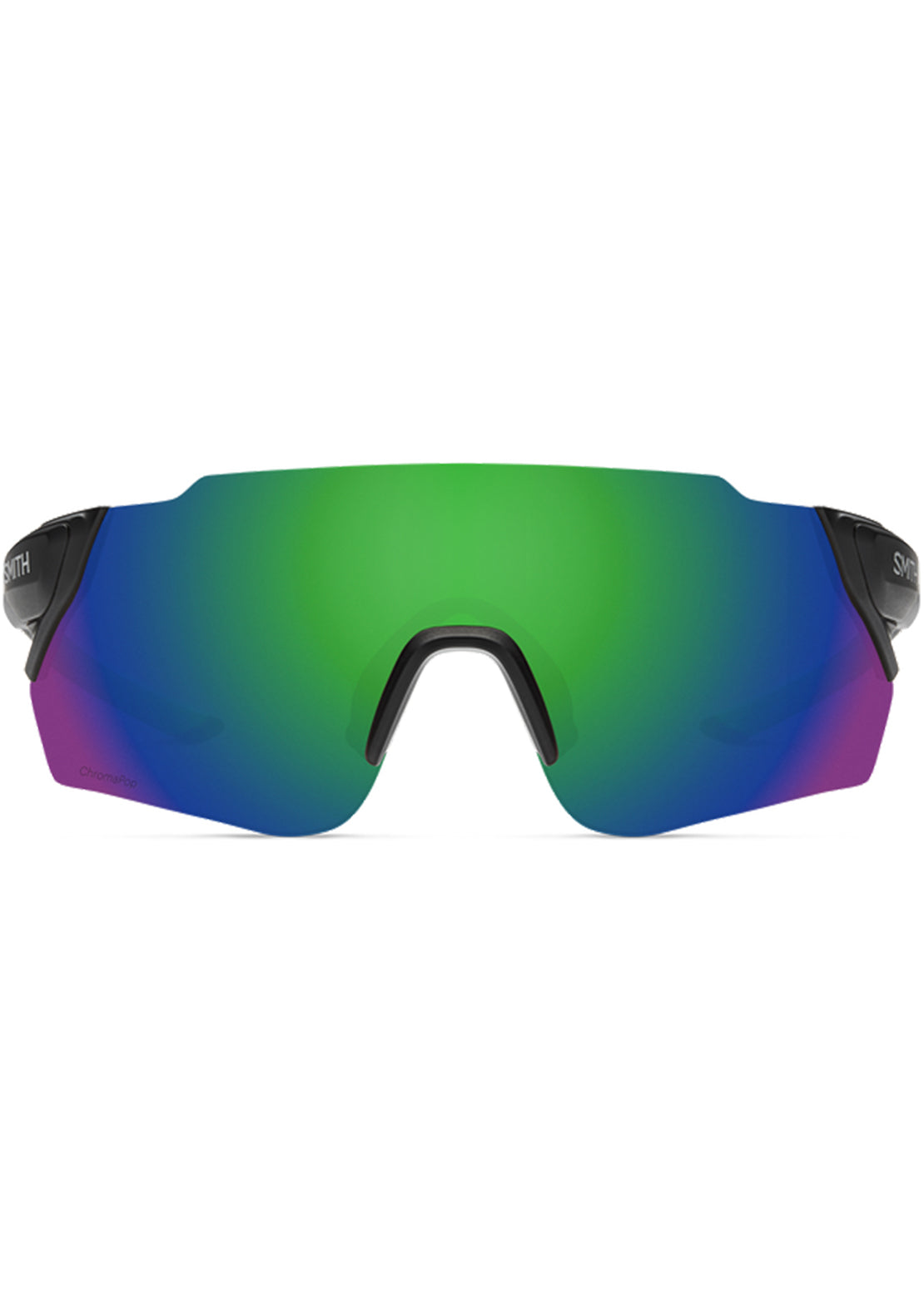 Smith Attack Mag Max Bike Sunglasses Matte Black Reactor/Chromapop Green Mirror
