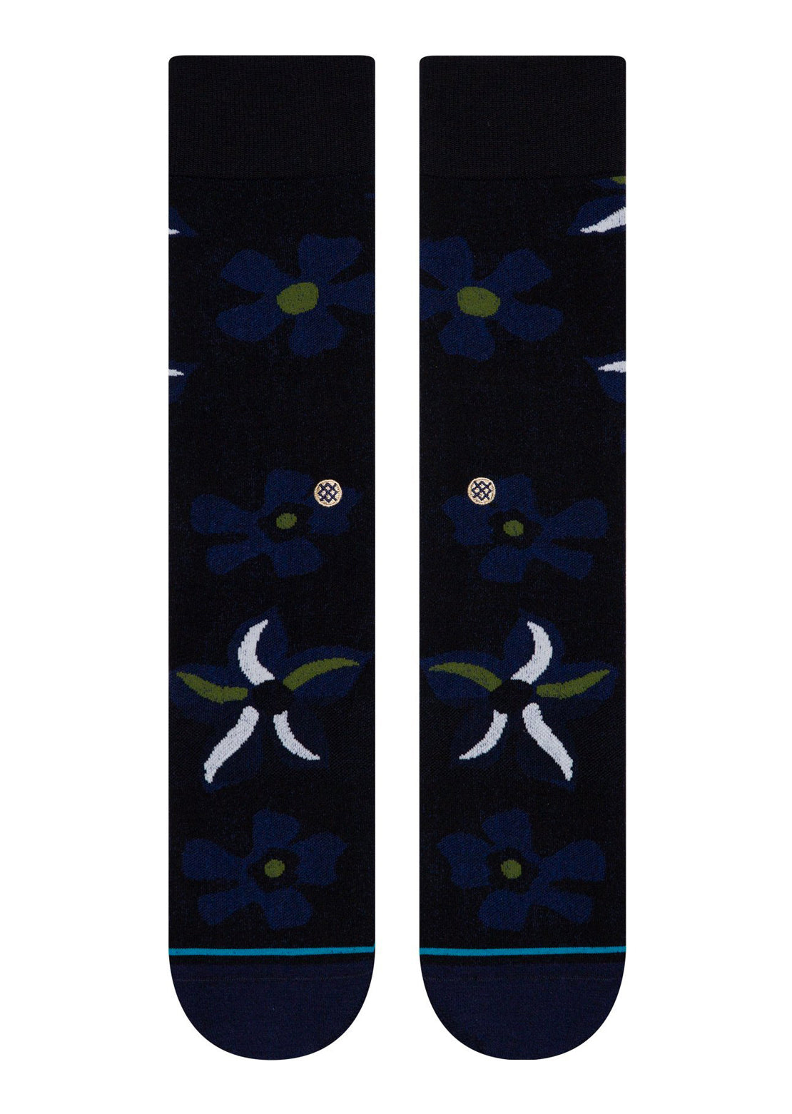 Stance Sonic Bloom Casual Socks Black