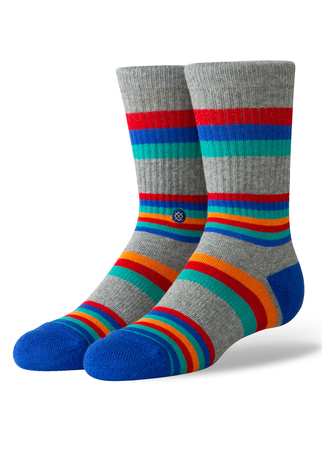 Stance Junior Circus Crew Socks Grey Heather