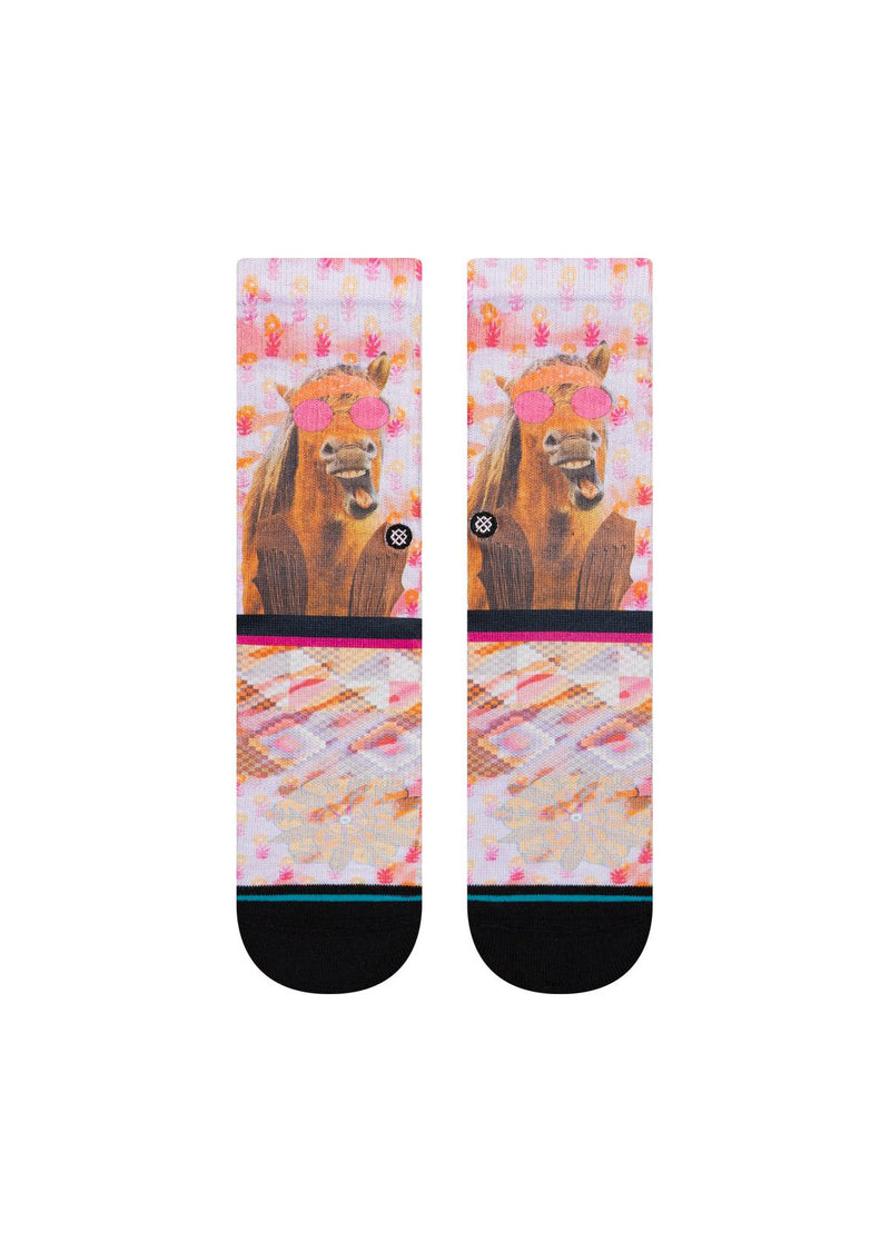 Stance Junior Hayleys Horse Crew Socks Pink