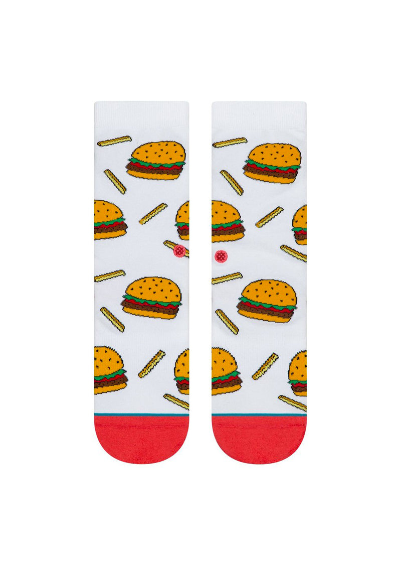 Stance Junior Kids Meal Crew Socks White