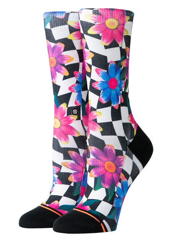Stance Women's Crazy Daisy Socks (Crazy Daisy) Black
