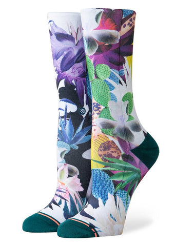 Stance Women's Opuntia Foundation Crew Socks Green