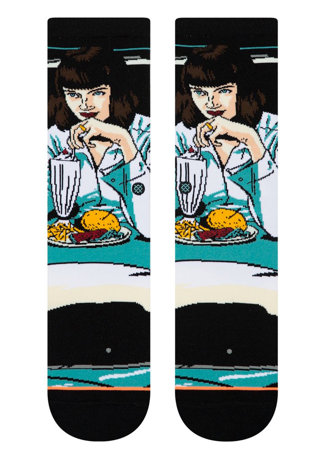 Stance Women's Quentin Tarantino Mia Booth Socks Teal