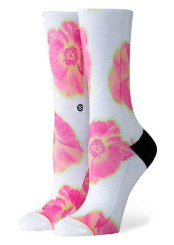 Stance Women's Thermo Floral Foundation Crew Socks White