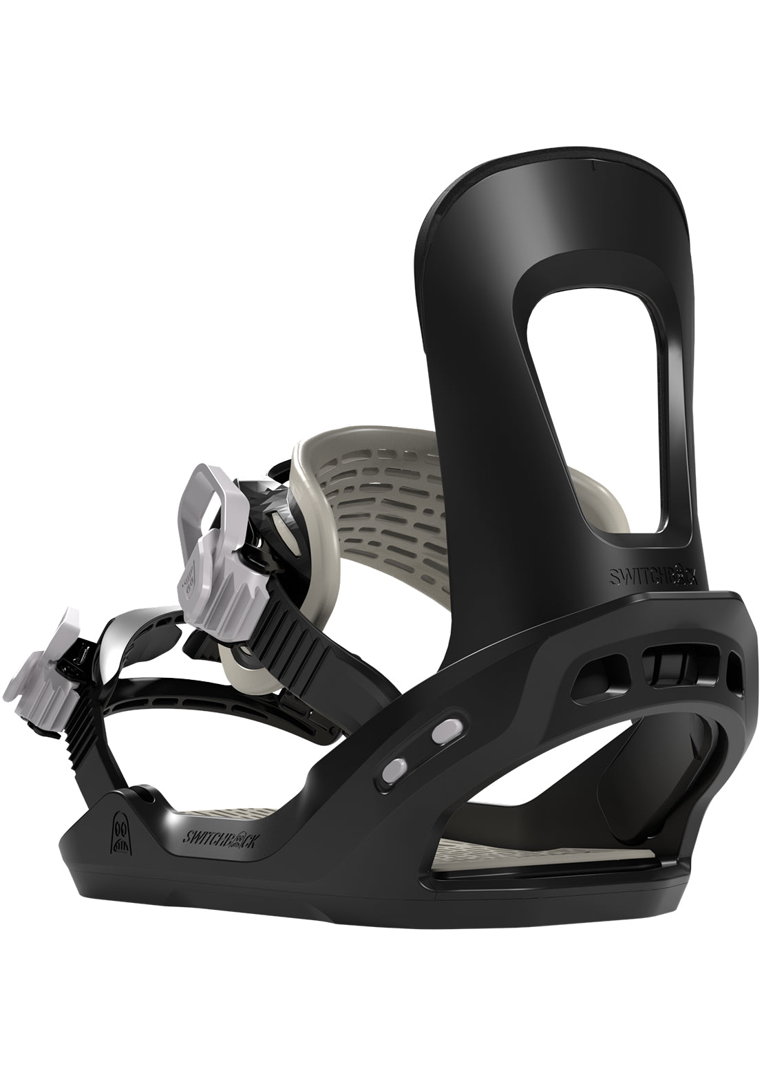 Switchback Junior Stuntwood Snowboard Bindings Black/Grey