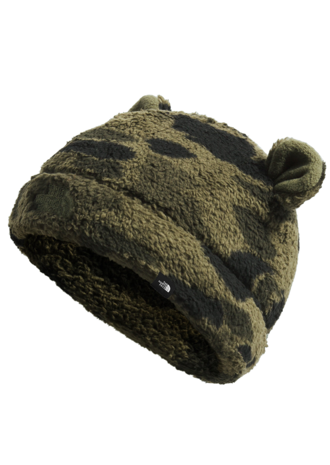 The North Face Infant Littles Bear Beanie New Taupe Green Duck Camo Print