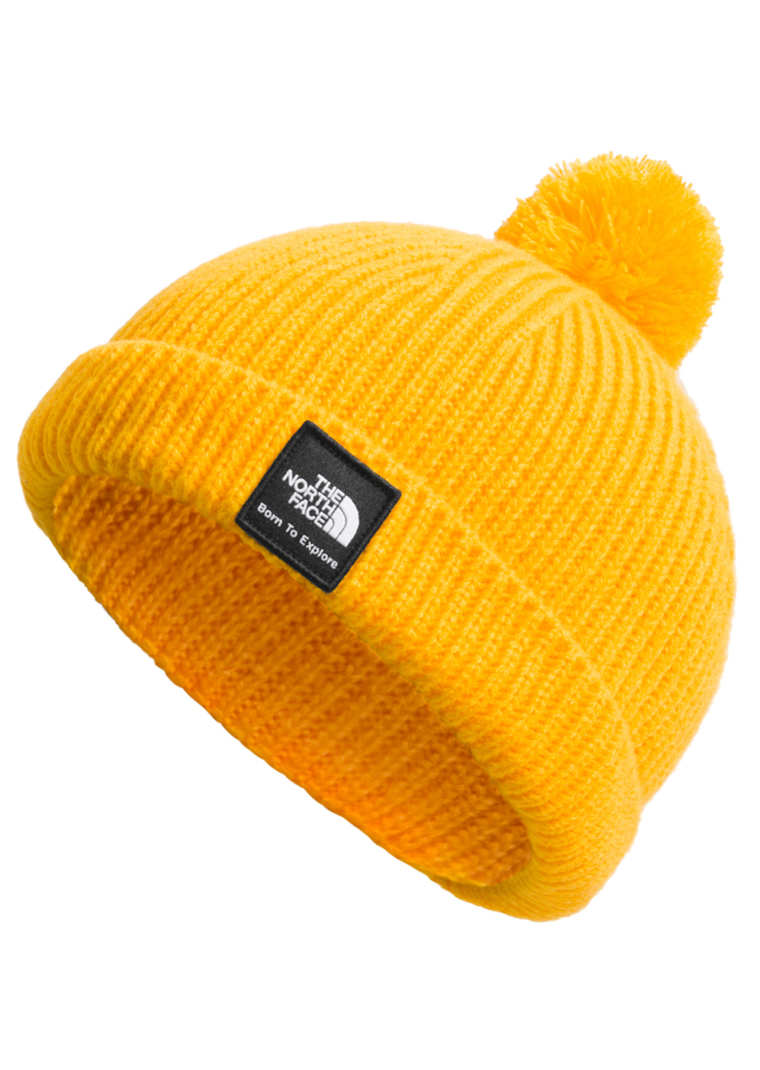 The North Face Infant Littles Box Logo Pom Beanie summit Gold