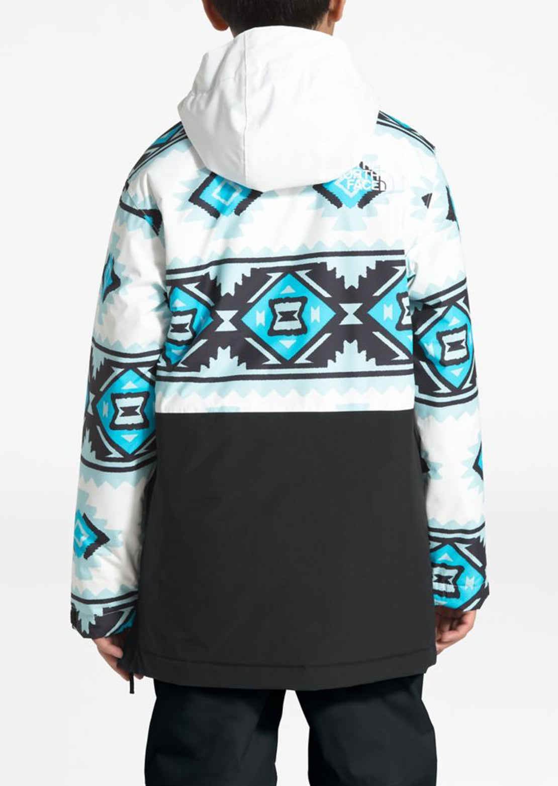 The North Face Junior Freedom Insulated Anorak White Tribal Geo Print