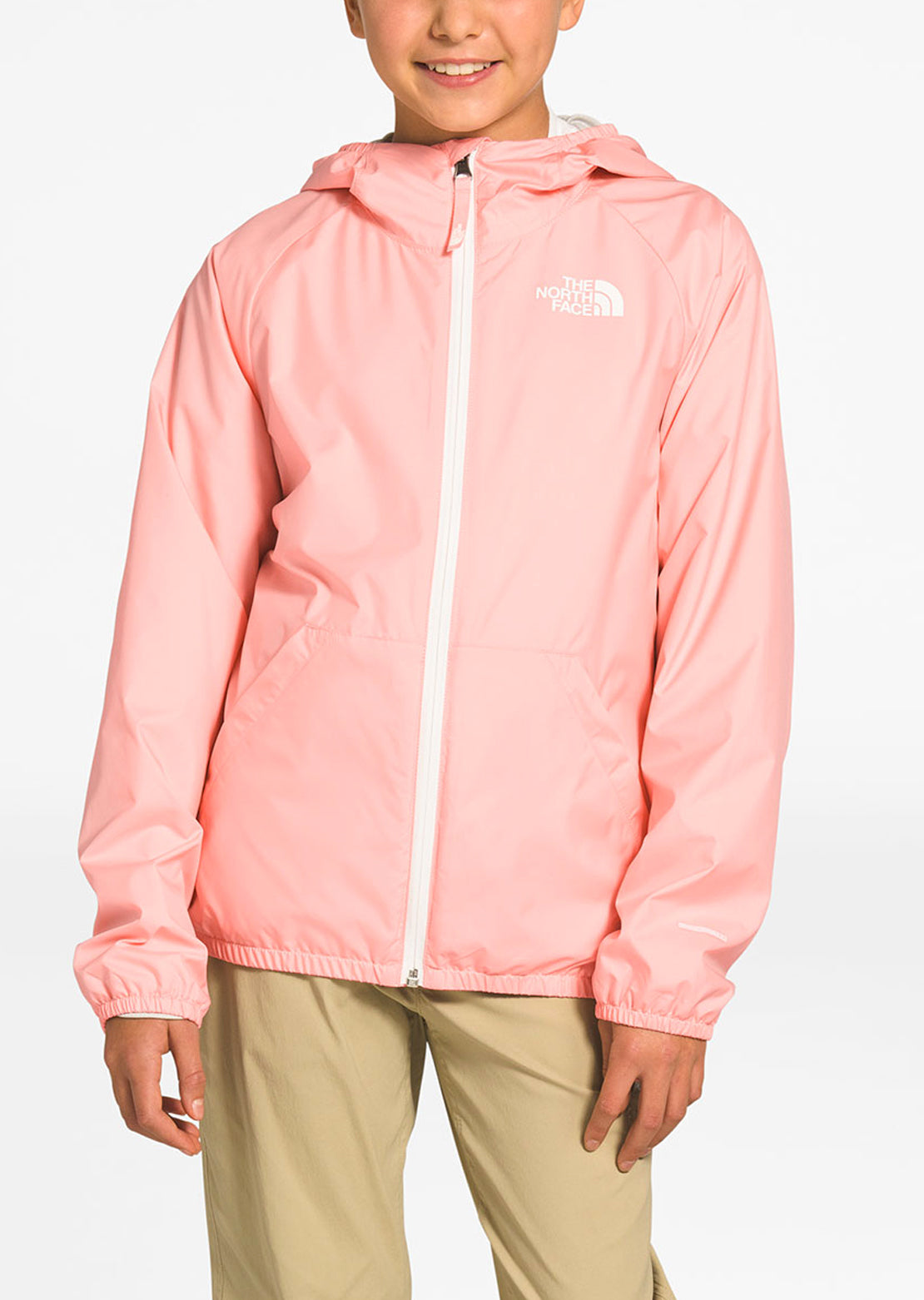 The North Face Junior Windy Crest Hoodie Impatiens Pink
