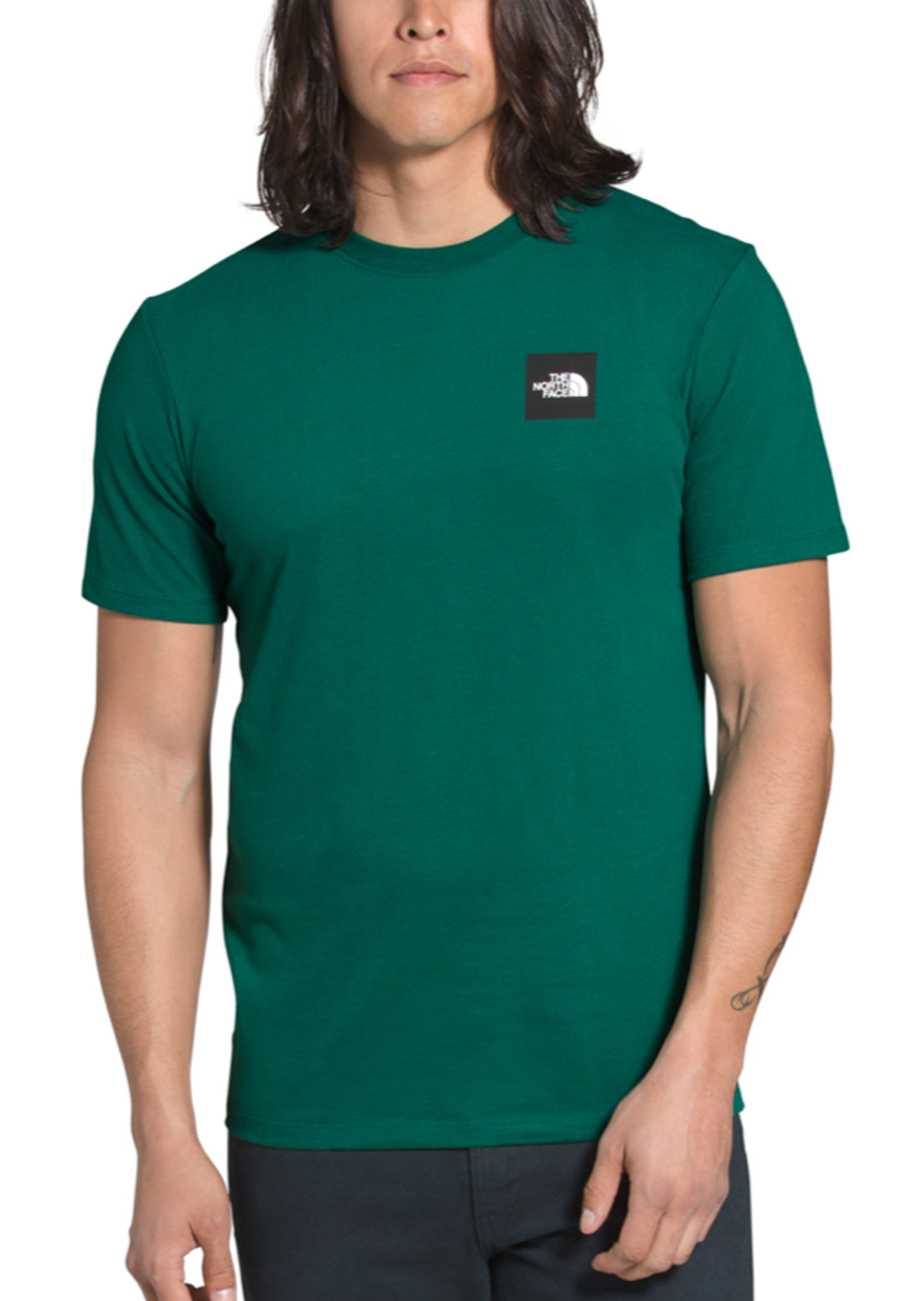 The North Face Men's Box T-Shirt Evergreen/TNF Black
