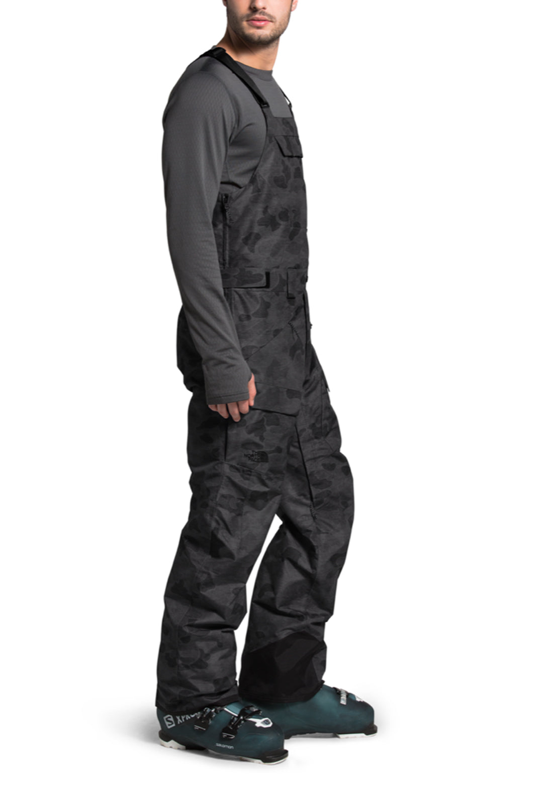The North Face Men's Freedom Bib Pants TNF Black Tonal Duck Camo Print