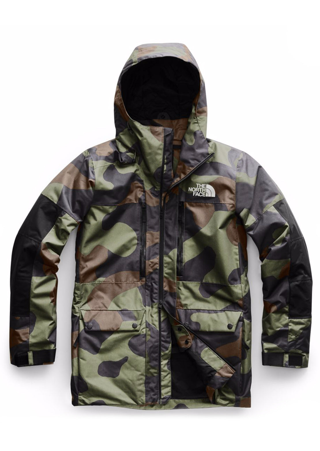 The North Face Men's Goldmill Parka Jacket Four Leaf Clover Terra Camo Print