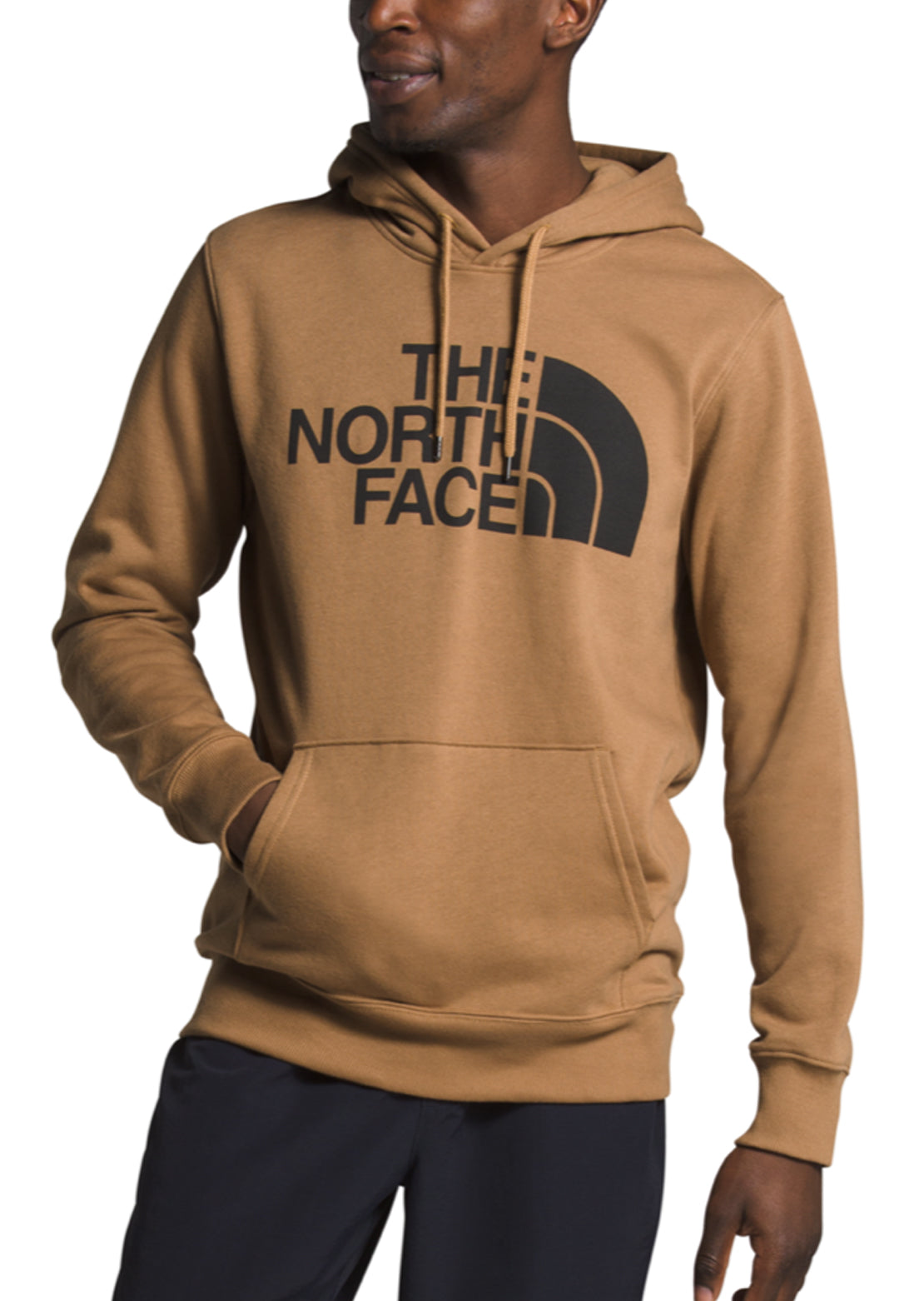 The North Face Men's Half Dome Pullover Hoodie Utility Brown/TNF Black