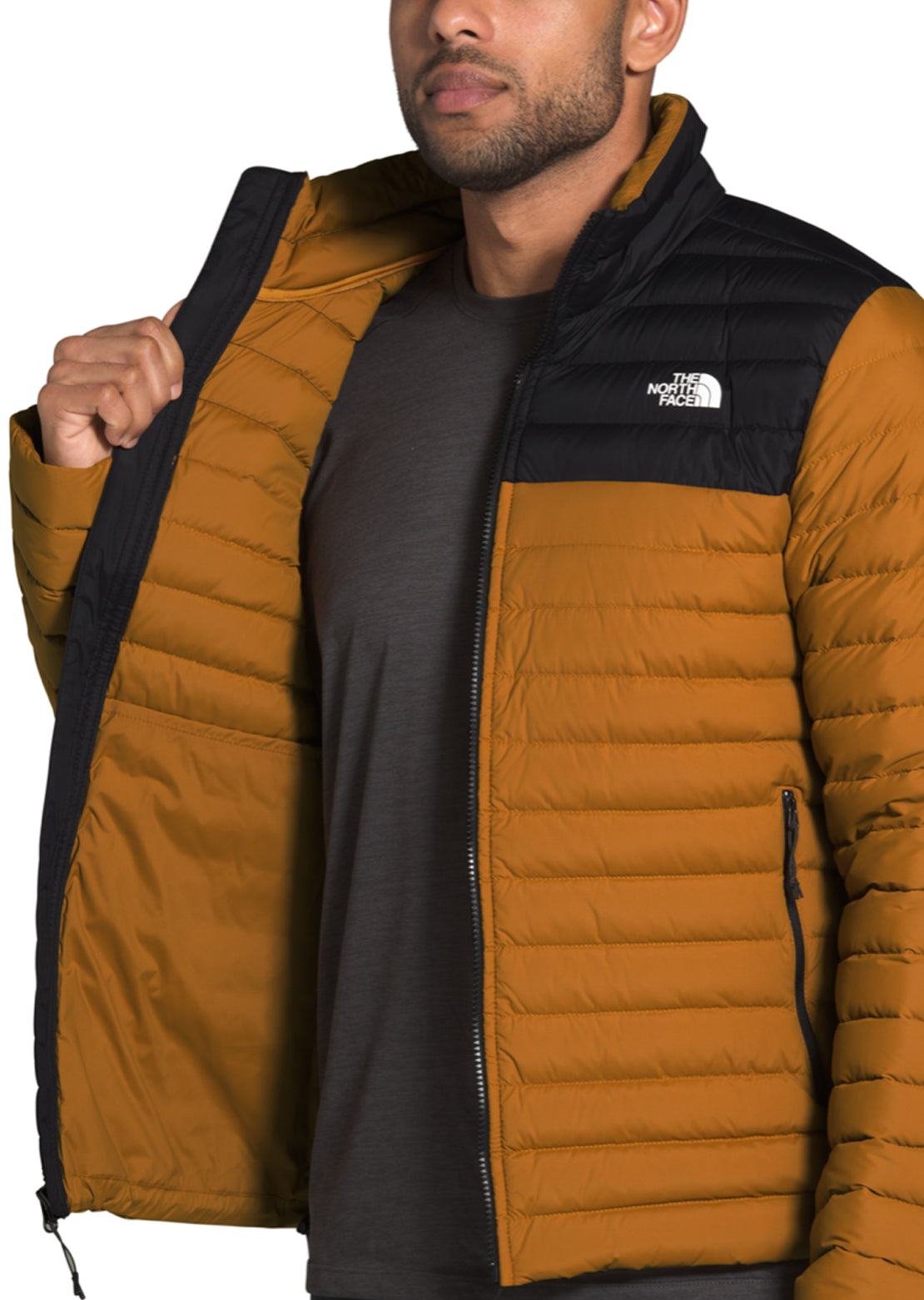 The North Face Men's Stretch Down Jacket Timber Tan/TNF Black