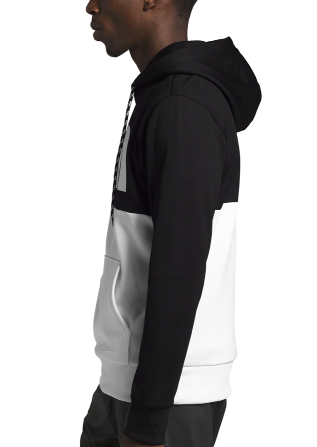 The North Face Men's Surgent Bloc Pullover Hoodie TNF Black/TNF White