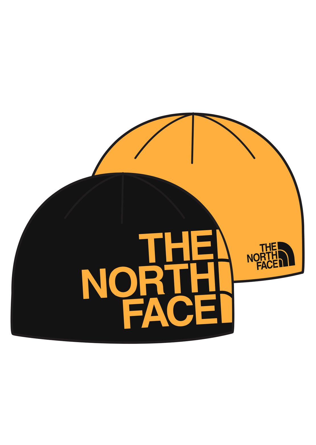 The North Face Reversible TNG Banner Beanie TNF Black/Summit Gold