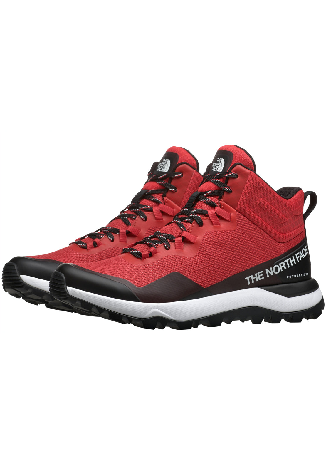 The North Face Women's Activist Mid Futurlight Boots, CAYENNE RED/TNF BLACK