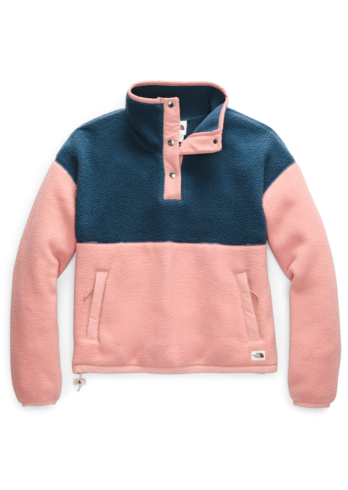The North Face Women's Cragmont Fleece 1/4 Snap Blue Wing Teal/Pink Clay