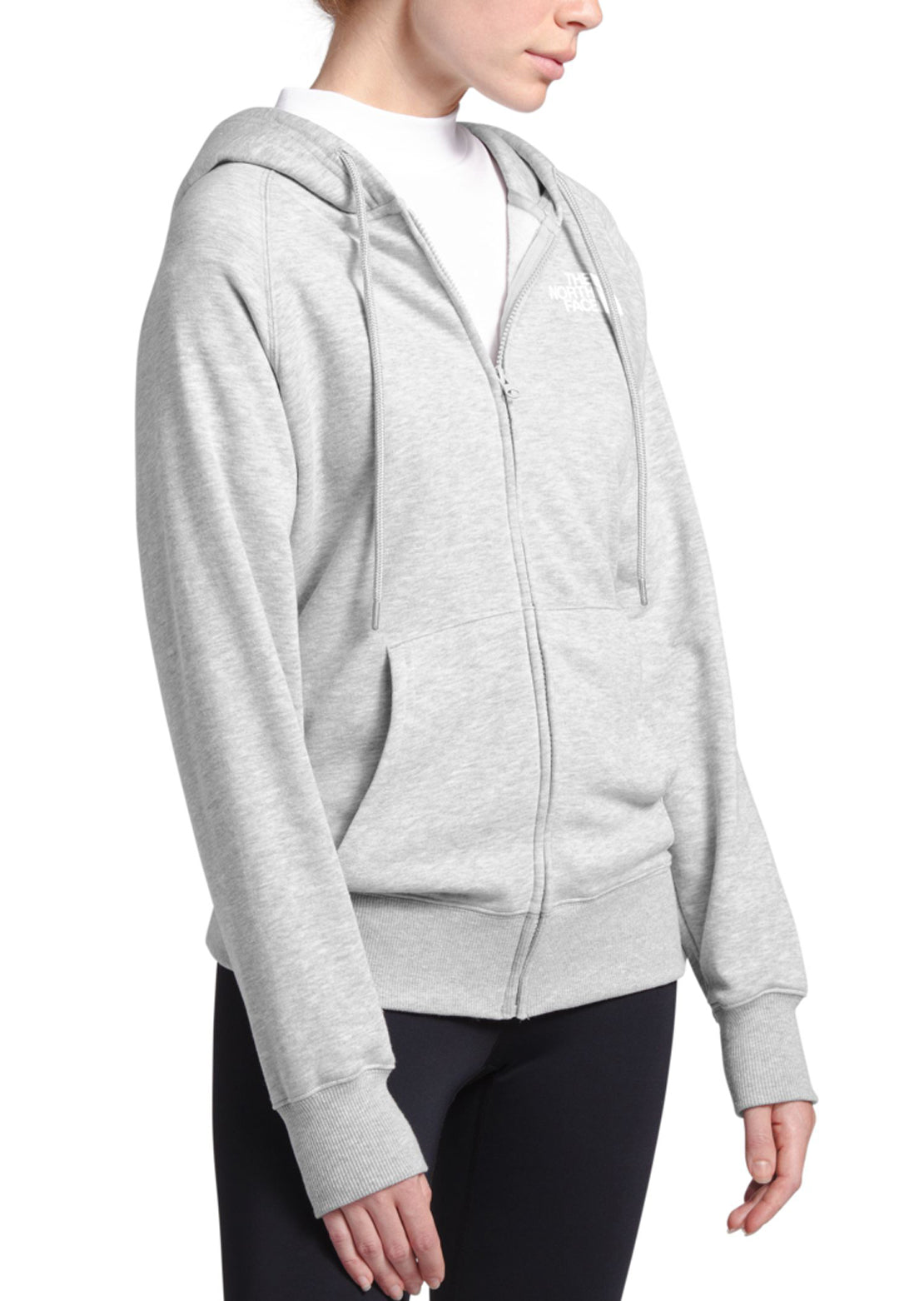 The North Face Women's Half Dome Full Zip Hoodie TNF Light Grey Heather