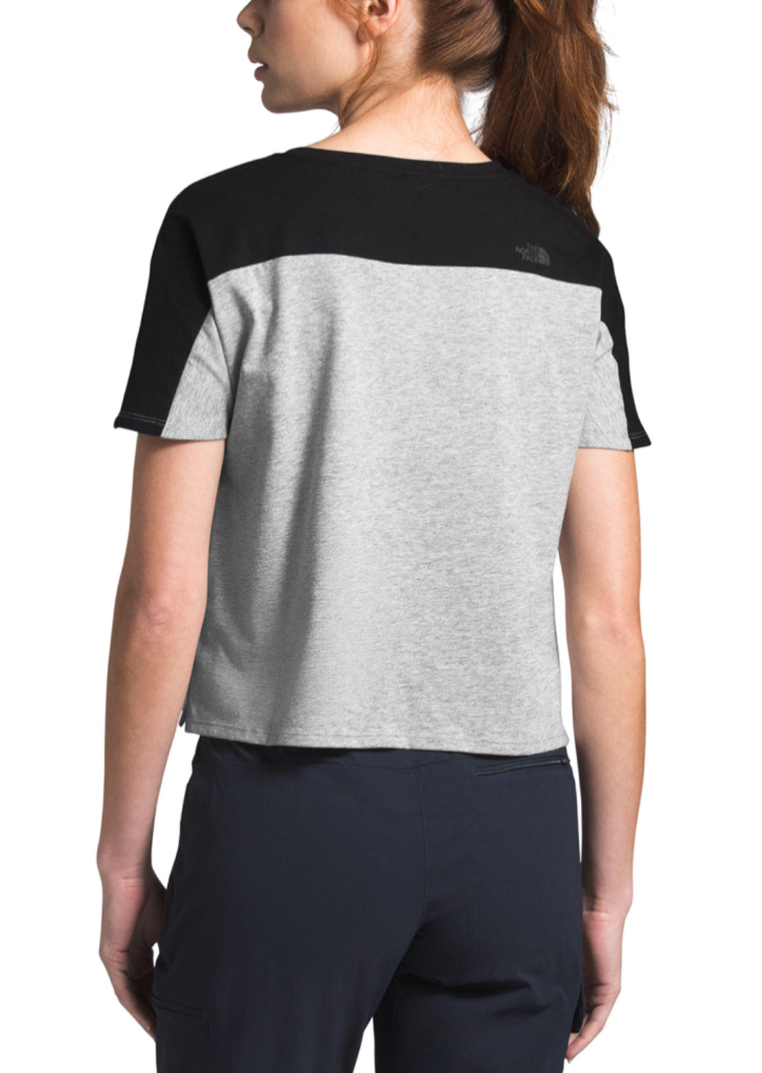 The North Face Women's North Dome T-Shirt TNF Light Grey Heather/TNF Black