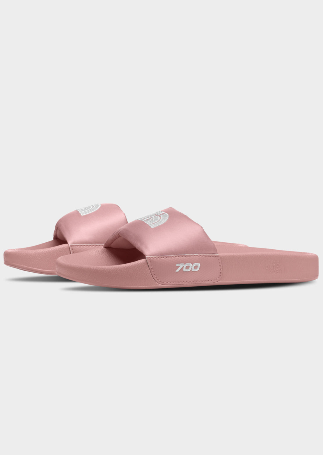The North Face Women's Nuptse Slide Sandals Pink Clay/TNF White