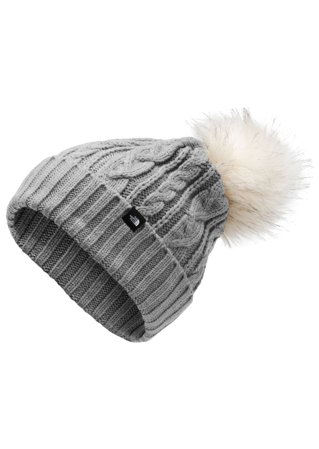 The North Face Women's Oh-Mega Fur Pom Beanie TNF Medium Gray Heather