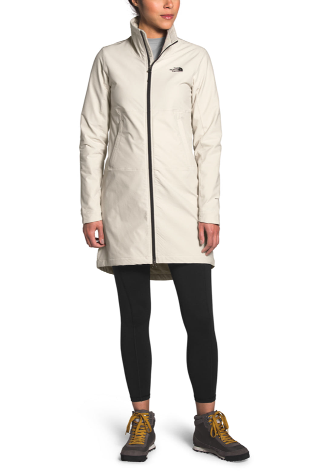 The North Face Women's Shelbe Raschel Parka-Length Hoodless Jacket Vintage White