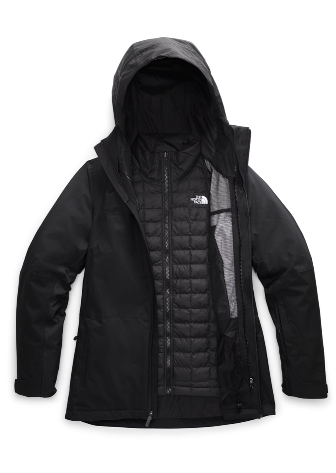 The North Face Women's Thermoball Eco Snow Triclimate Jacket TNF Black