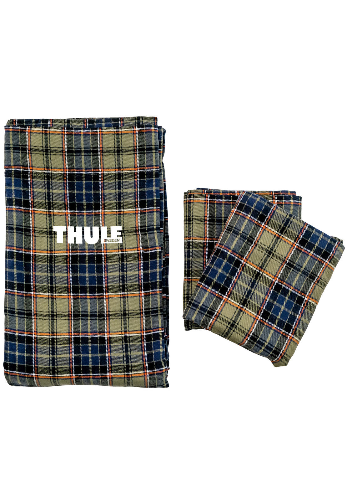 Thule Flannel Sheets for 2-Person Tents Plaid Blue-Green