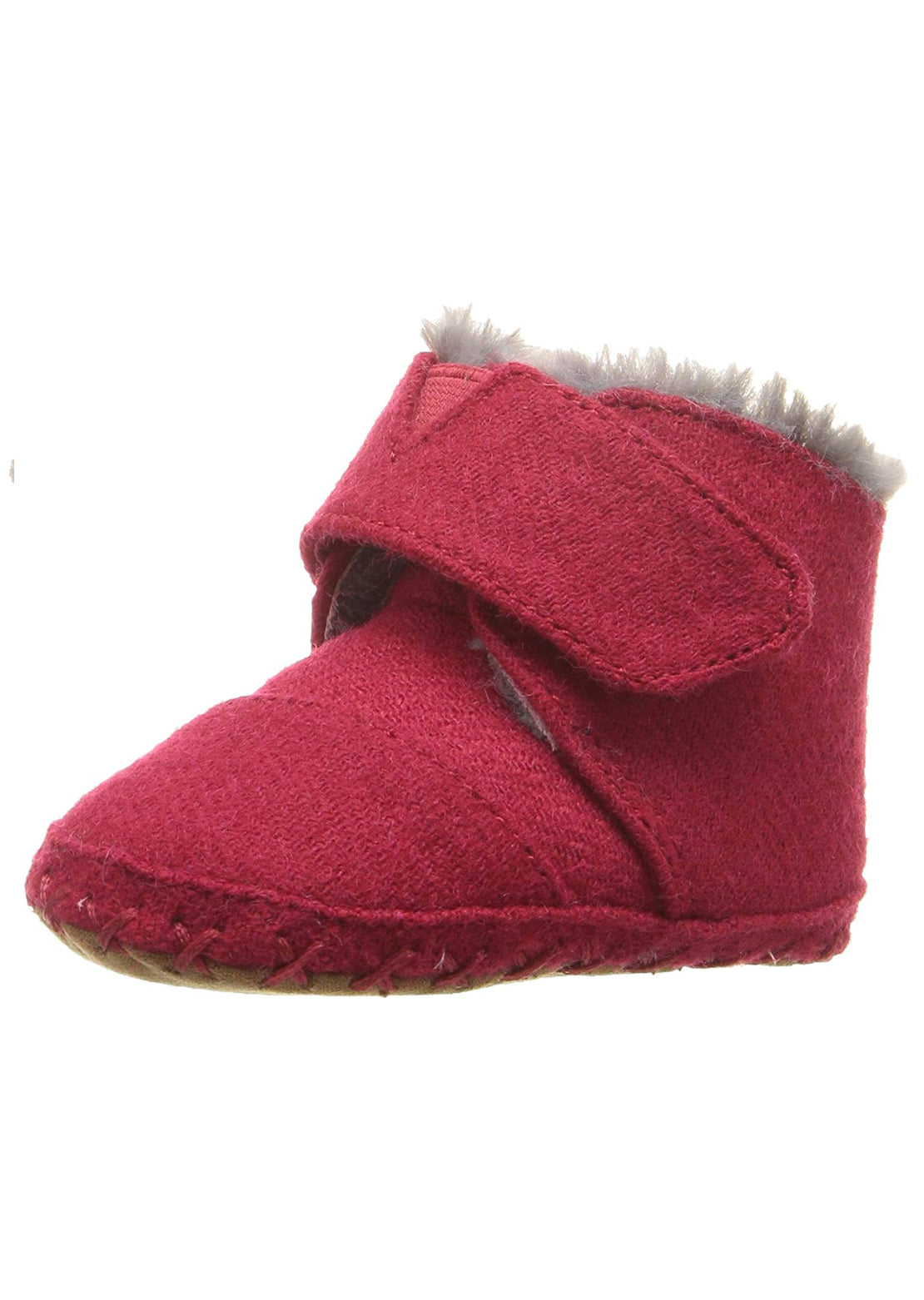 Toms Junior Cuna Boots Red Corduroy