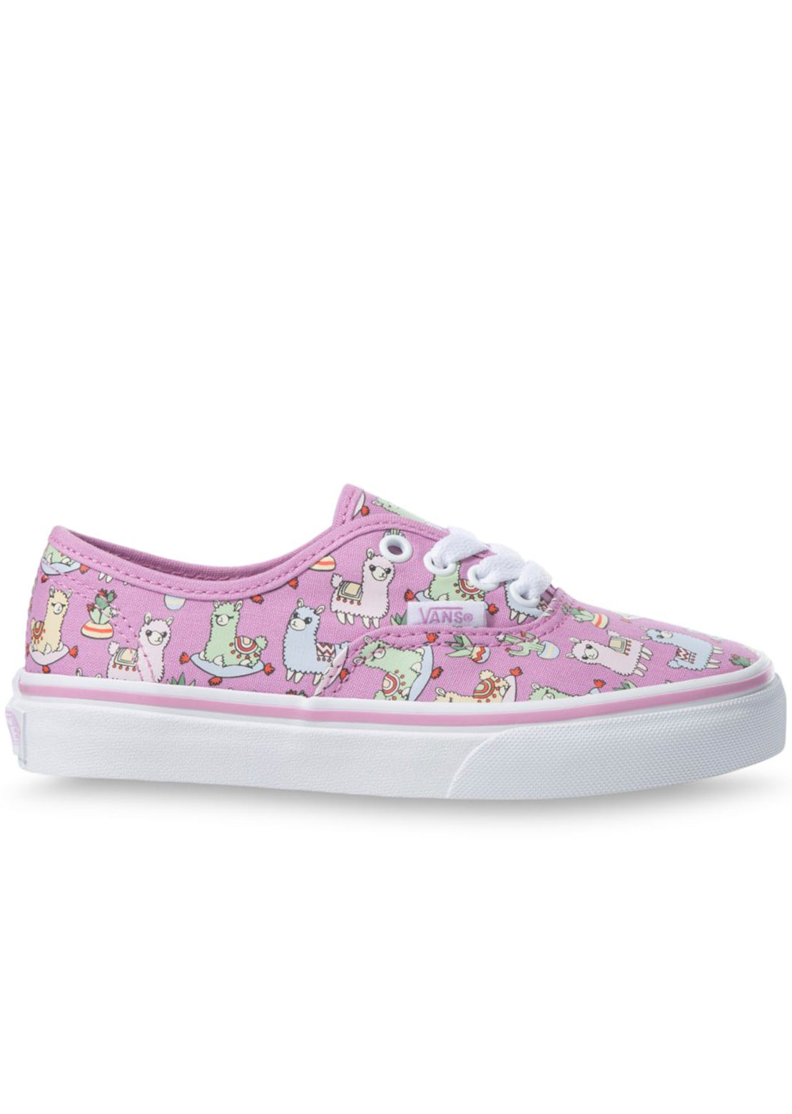 Vans Junior Authentic Shoes Llamas Orchid/True White