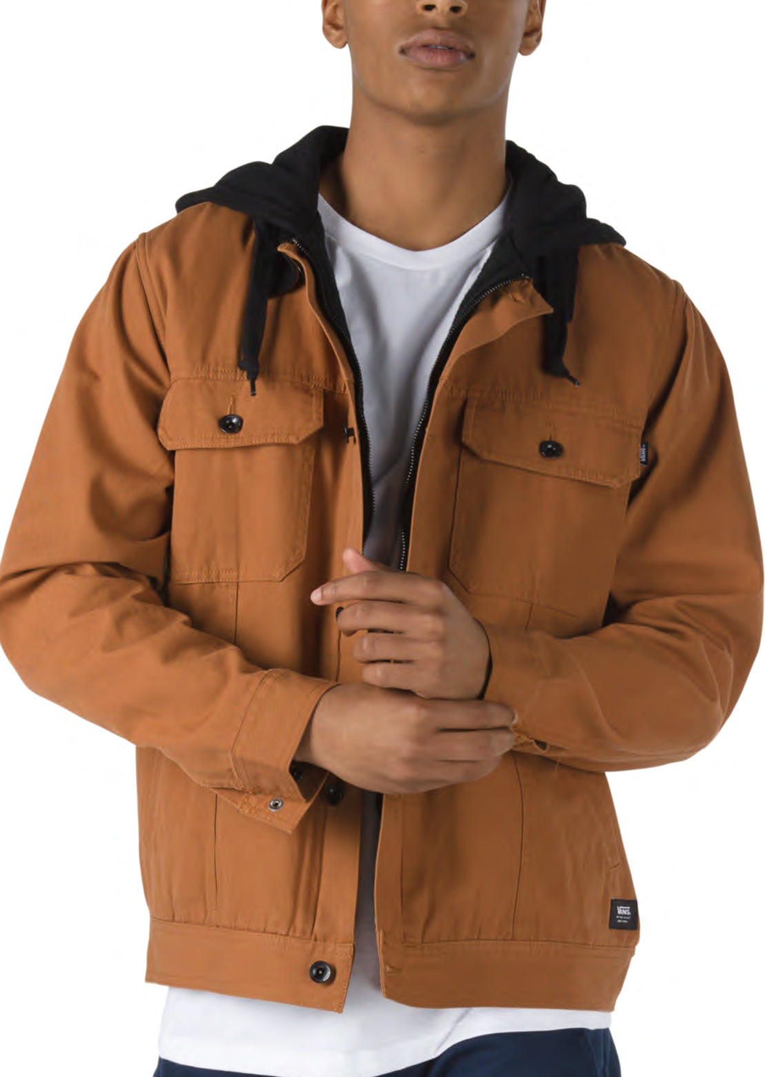 Vans Men's Precept Hooded Trucker Jacket Argan Oil