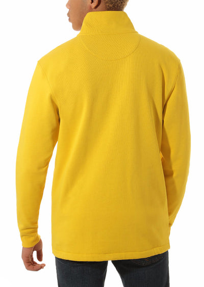 Vans Men's Versa Quarter Zip Sweater Sulphur