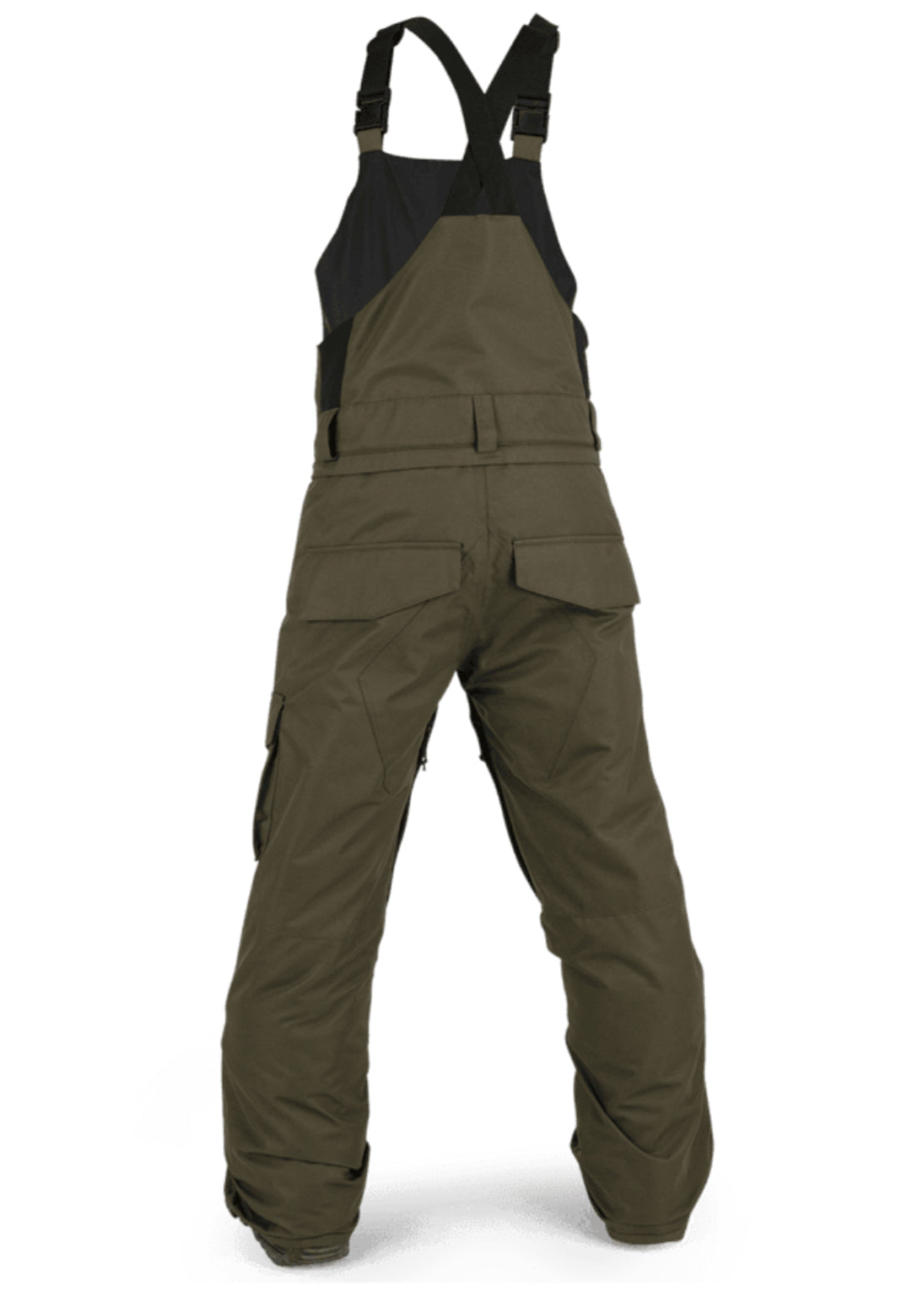 Volcom Junior Barkley Bib Overall Pants Black Military