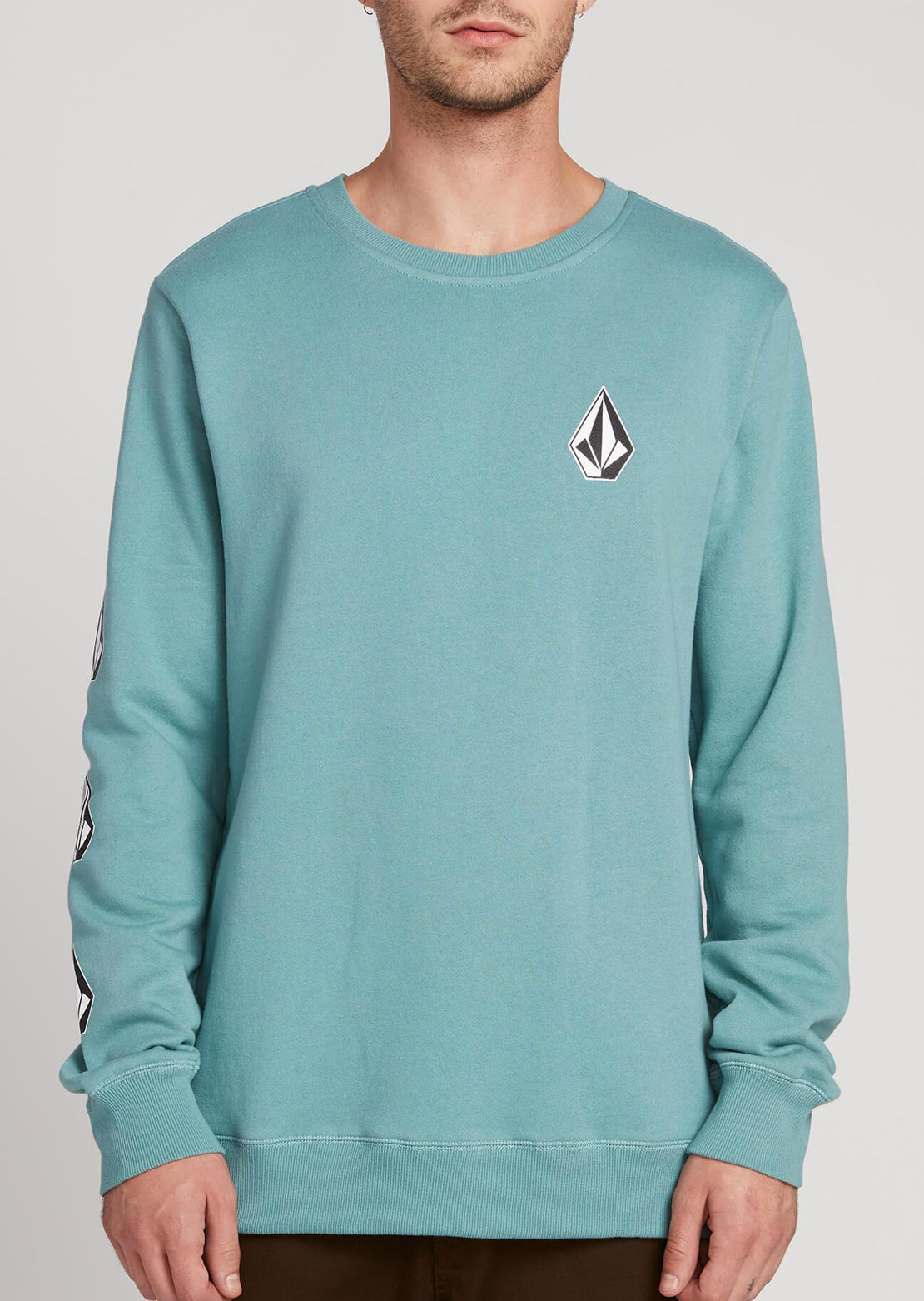 Volcom Men's Deadly Stone Crewneck Sweater Agave