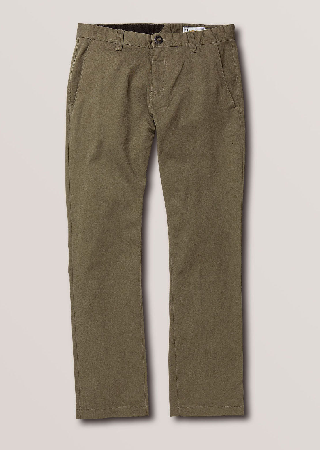 Volcom Men's Frickin Modern Stretch Pants Army Green Combo