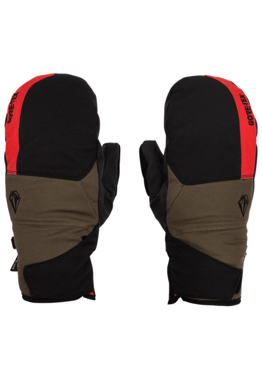 Volcom Men's Stay Dry GORE-TEX Mitts Red